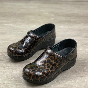 Dansko Professional Nursing Clogs Shoes  Leopard